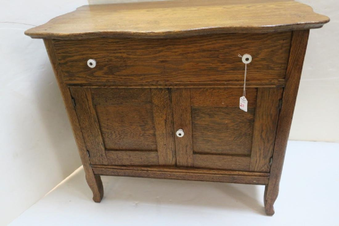Oak Turn of the Century Wash Stand: