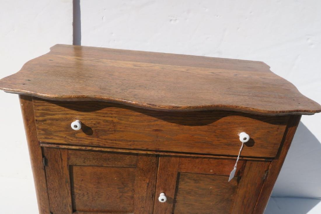 Oak Turn of the Century Wash Stand: - 4