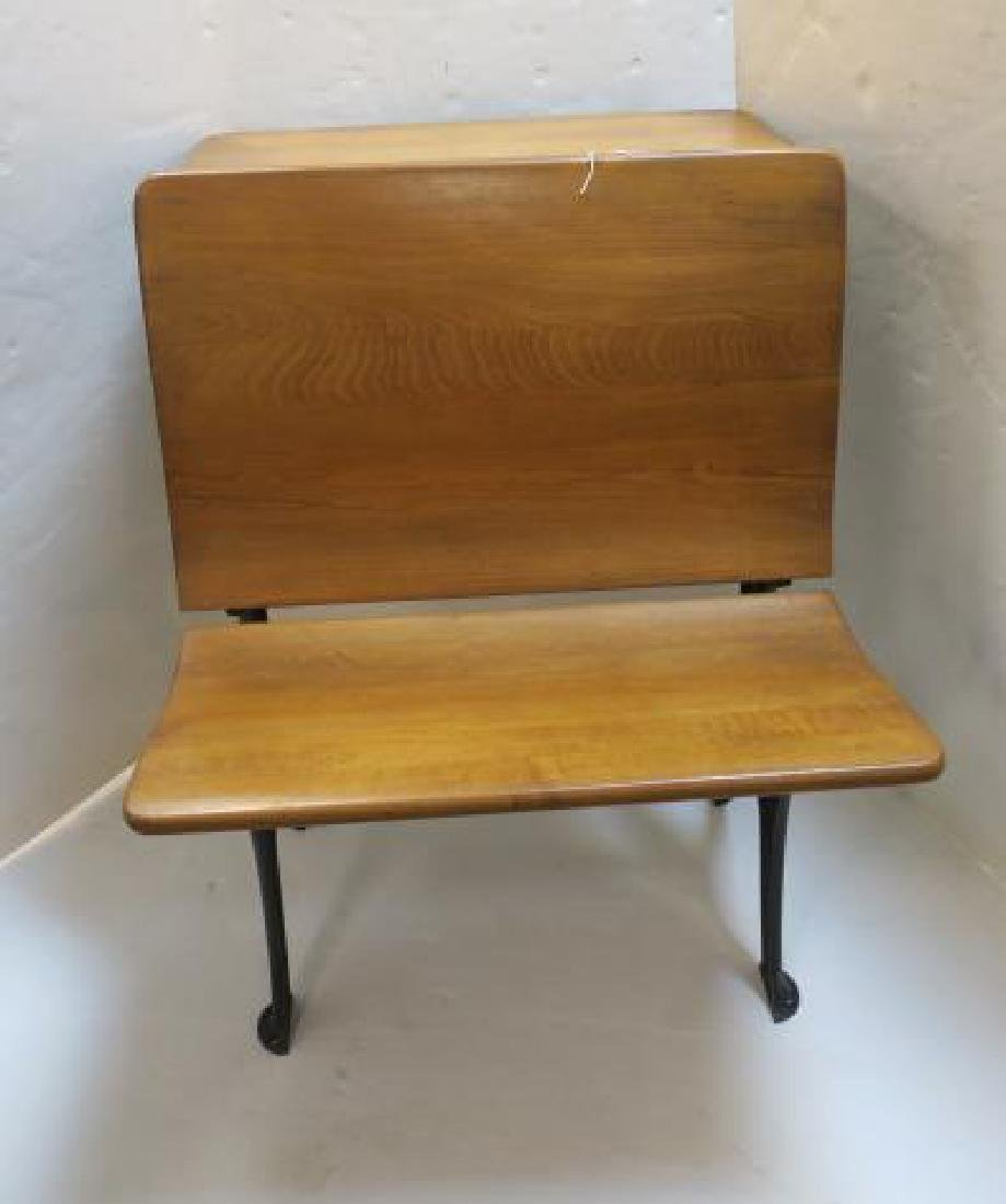 Childs Single Seat Vintage School Desk: