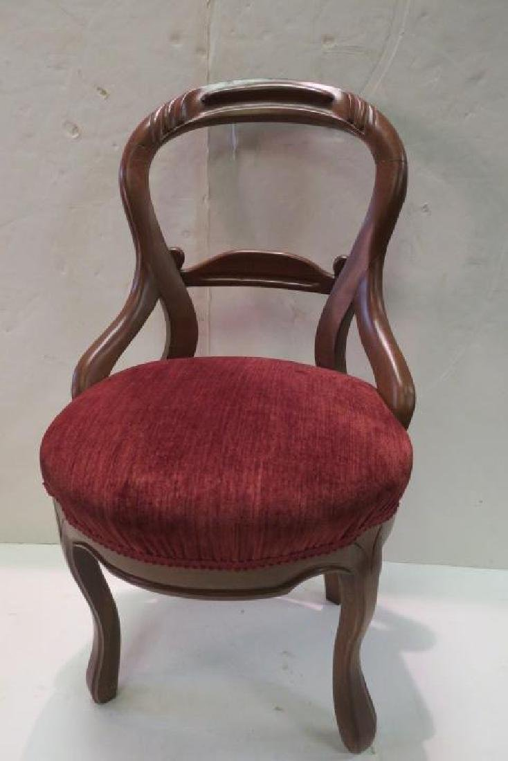 Pair of Open Balloon Back Side Chairs: - 2
