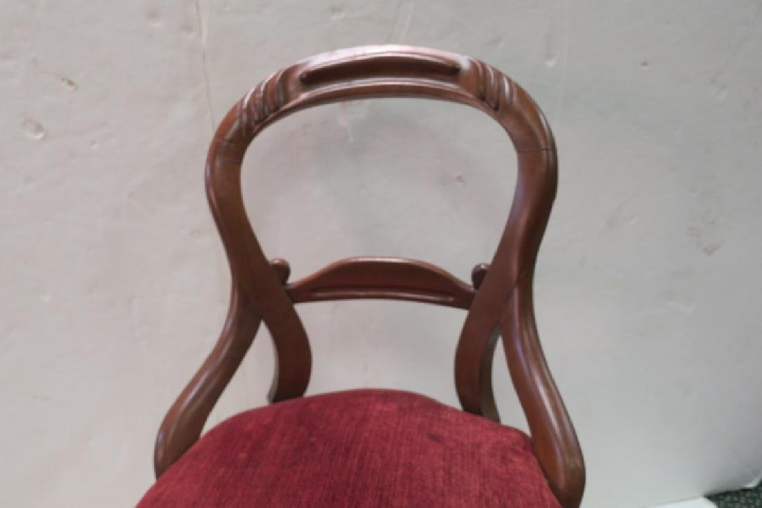 Pair of Open Balloon Back Side Chairs: - 4