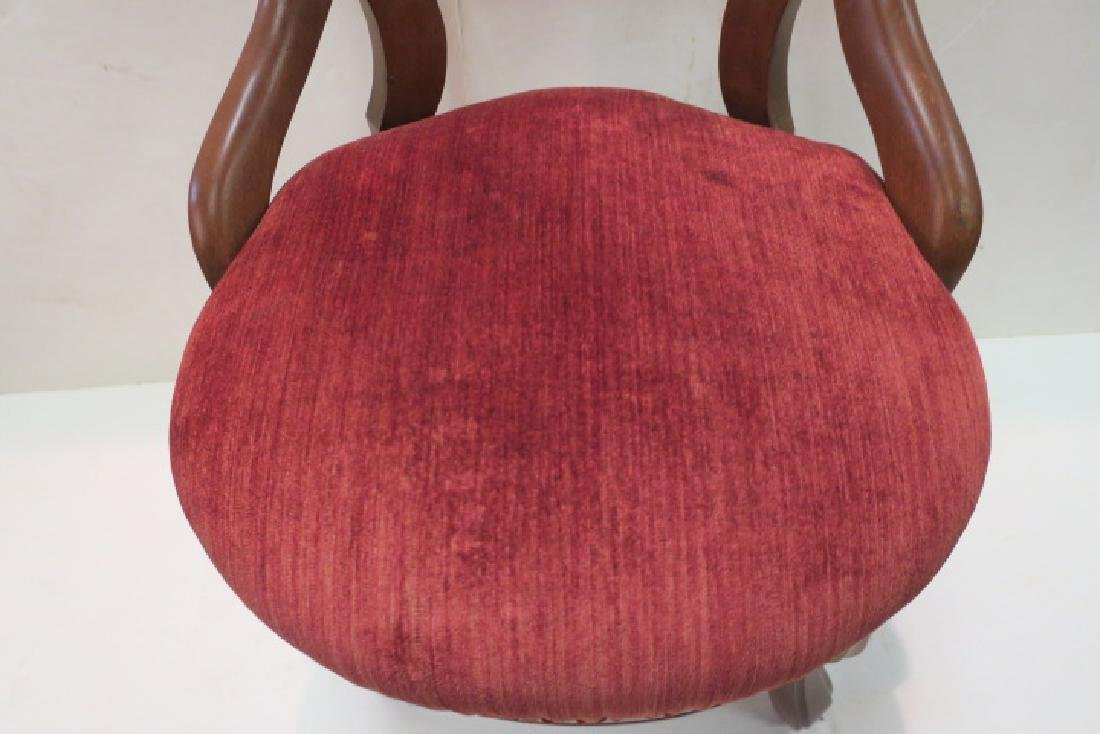 Pair of Open Balloon Back Side Chairs: - 5