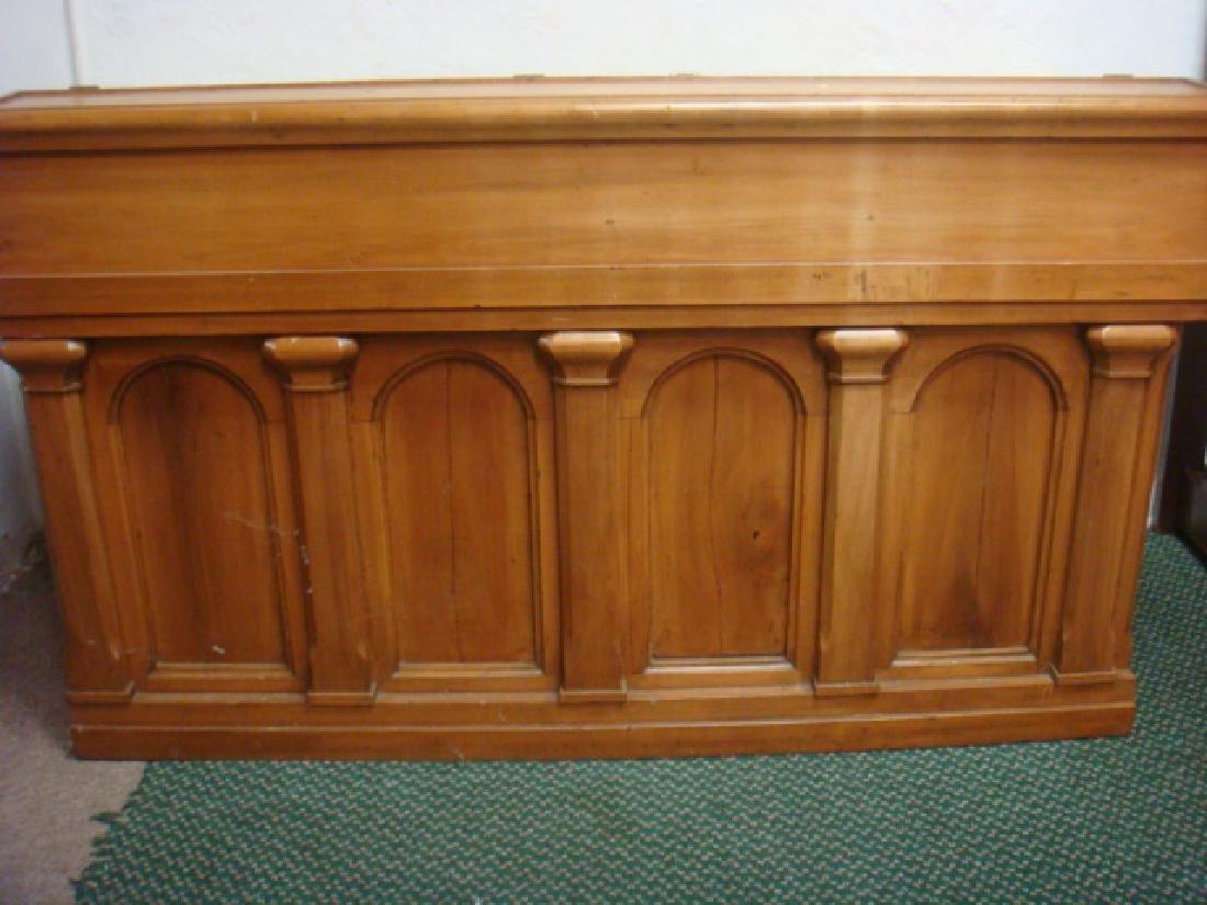 Antique Pine Plantation Desk with Double Lift Top: - 3