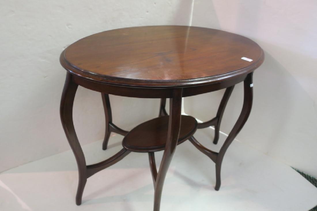 Oval Mahogany Sofa Table: