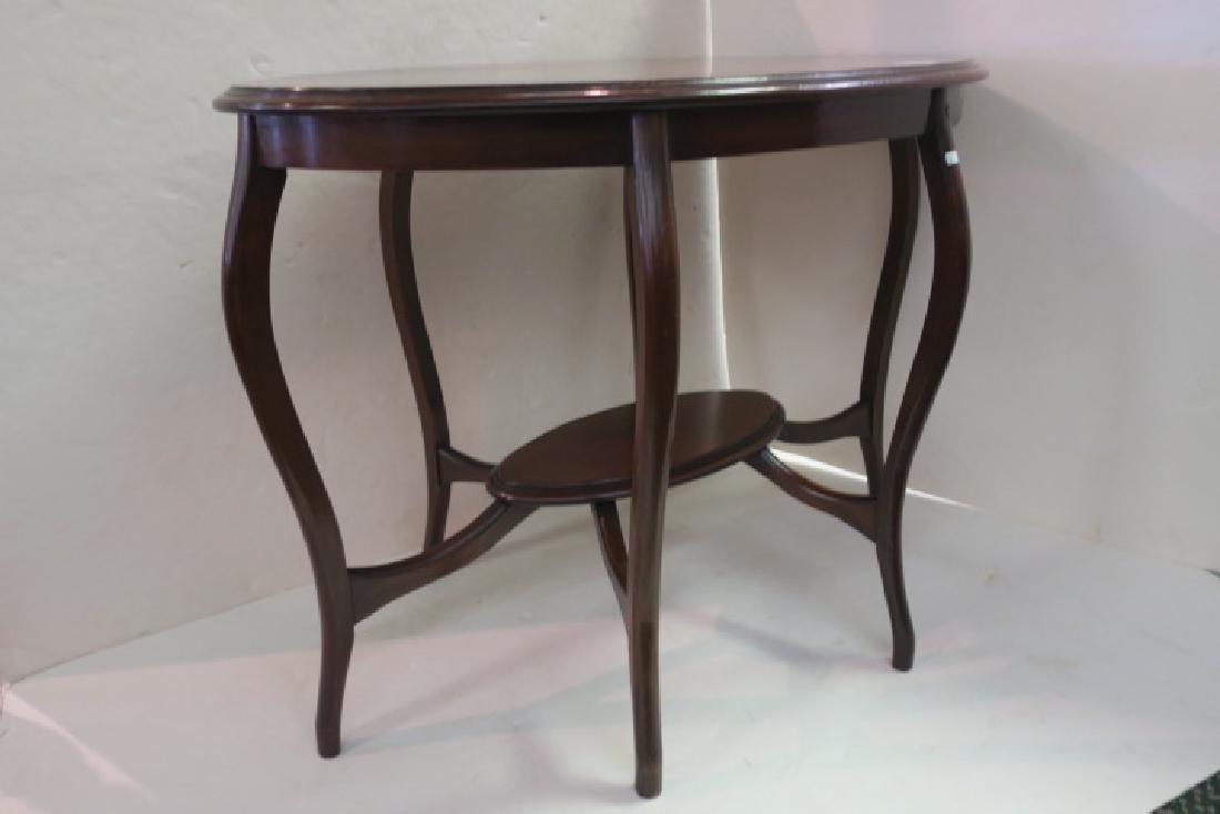 Oval Mahogany Sofa Table: - 2
