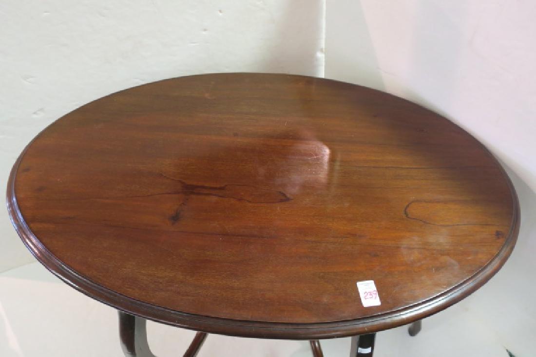 Oval Mahogany Sofa Table: - 3