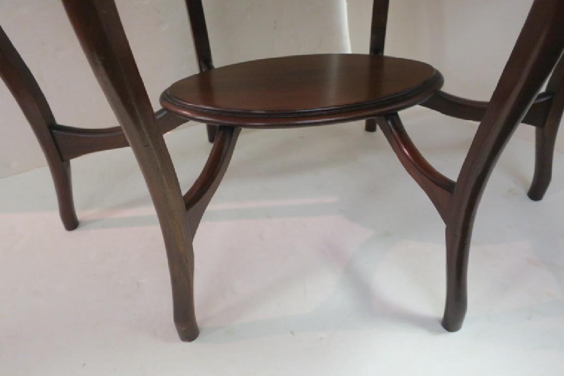 Oval Mahogany Sofa Table: - 4