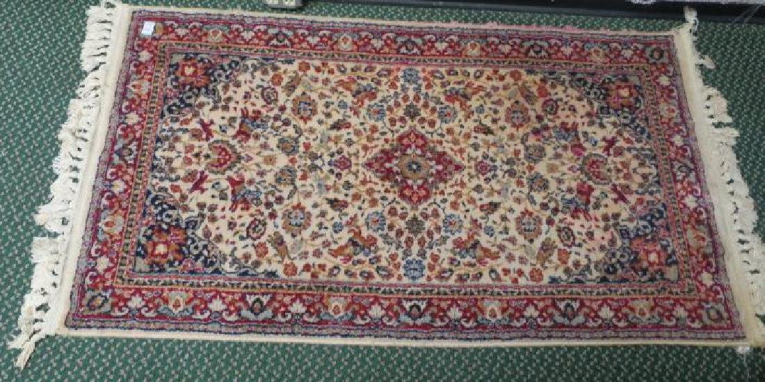 Small Wool Persian Style Area Rug: