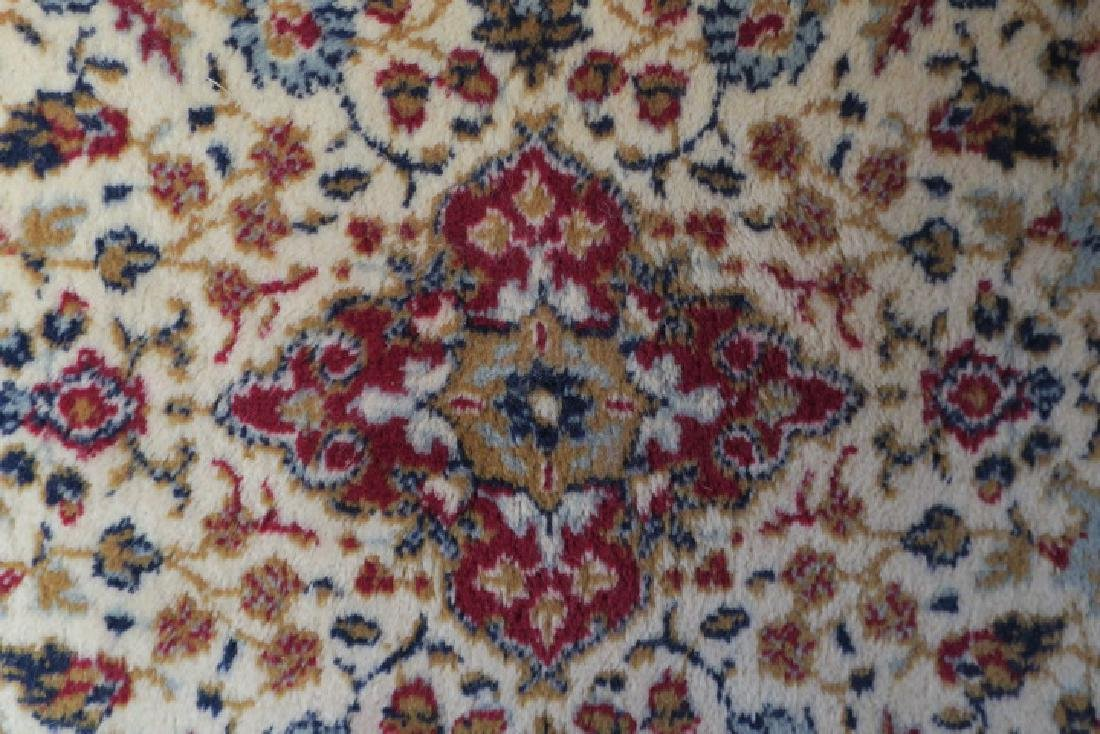 Small Wool Persian Style Area Rug: - 2