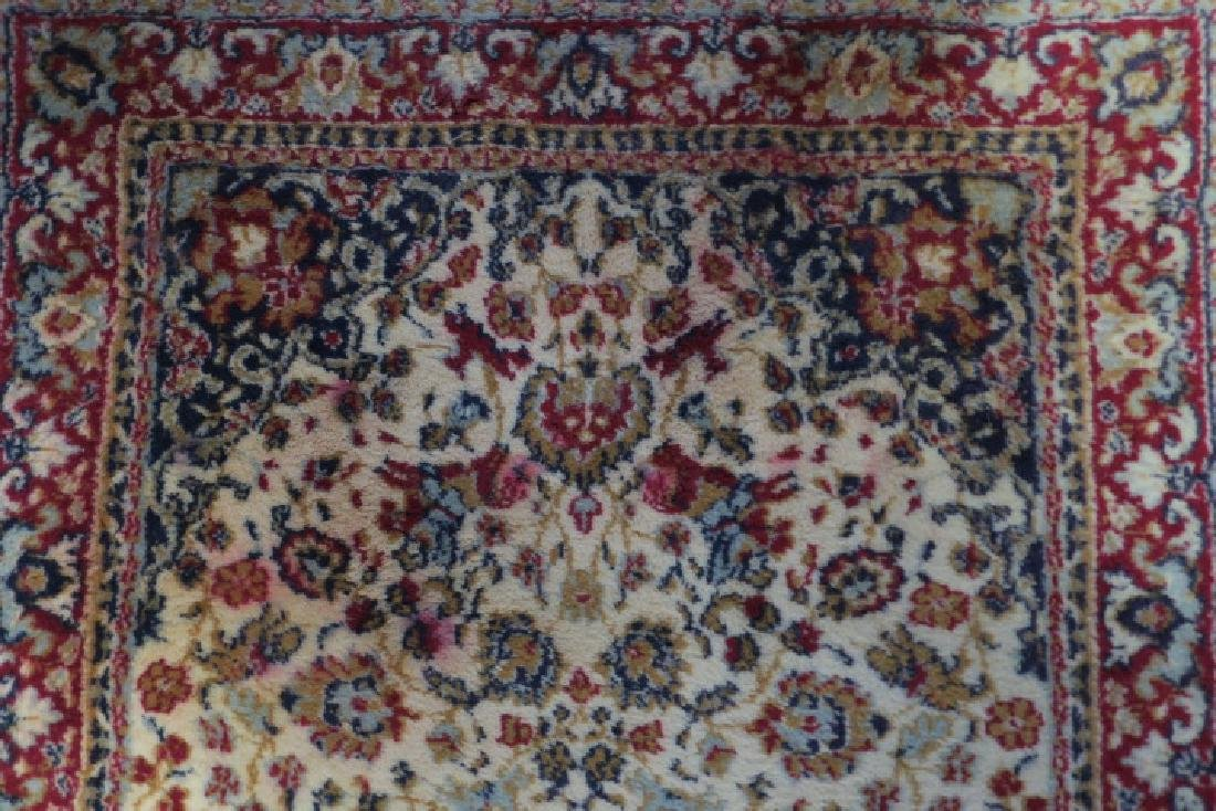 Small Wool Persian Style Area Rug: - 3