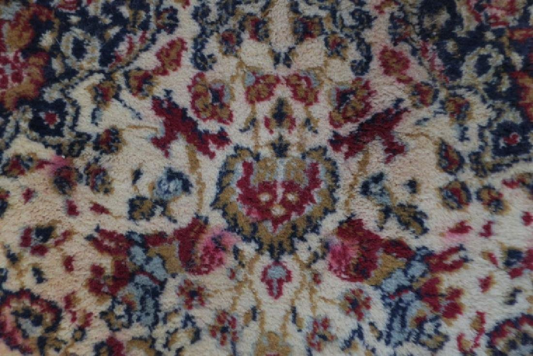 Small Wool Persian Style Area Rug: - 4