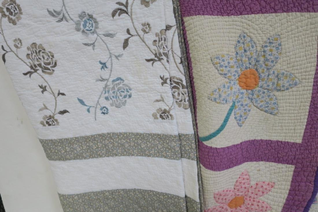 Lot of 5 Vintage Quilts, Some with Pillow Shams - 2