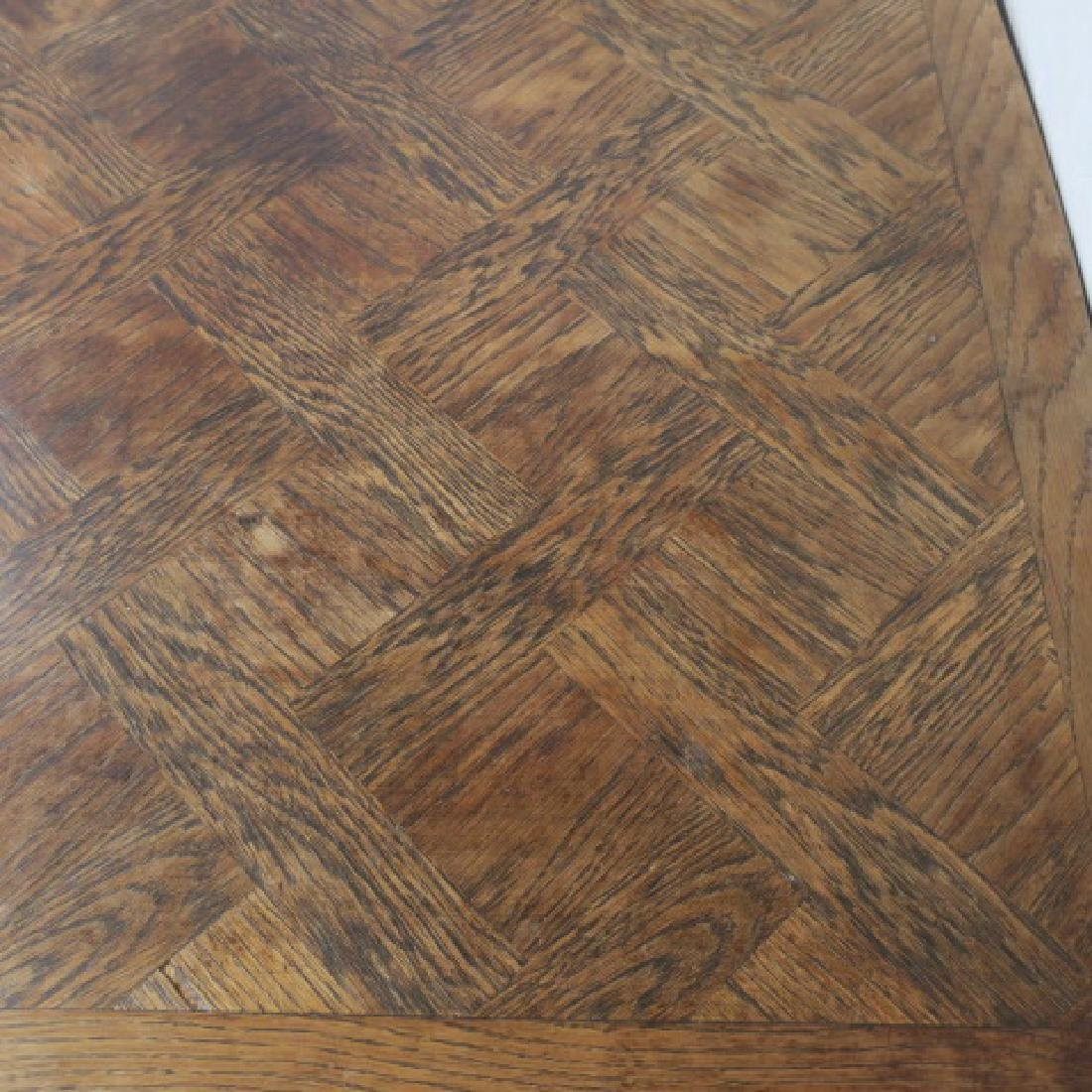Modern Rectangular Parquet Dining or Project Table: - 3