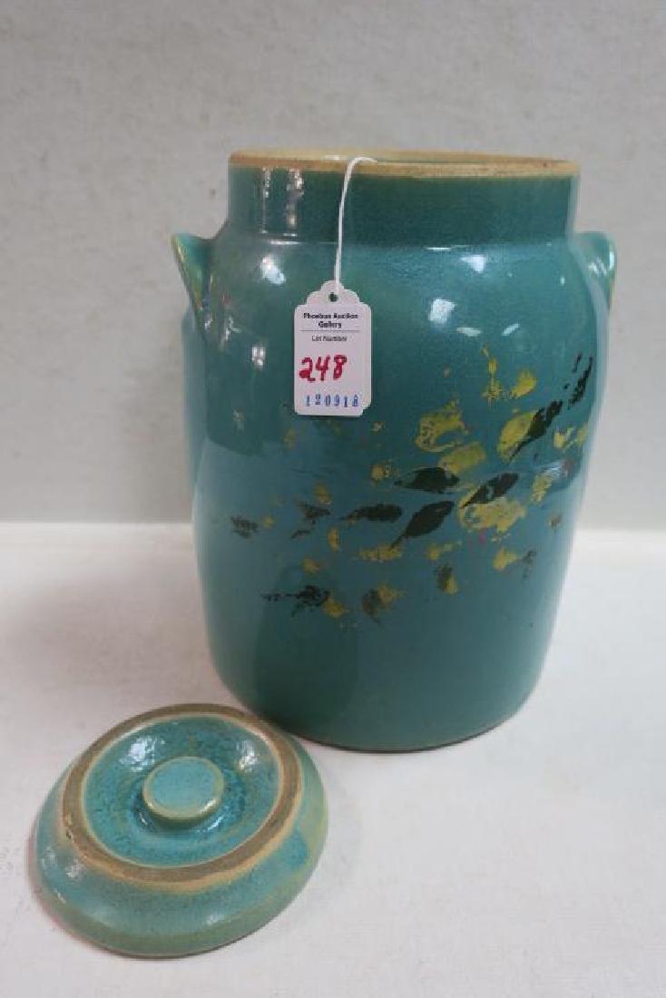 Vintage RED WING Turquoise Stoneware Cookie Jar/Crock: