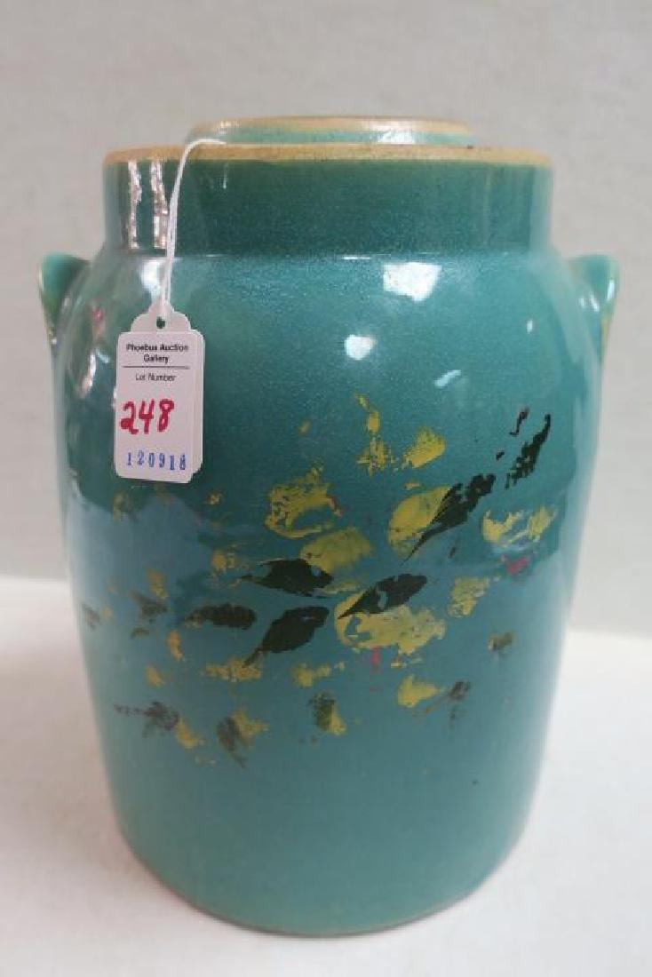 Vintage RED WING Turquoise Stoneware Cookie Jar/Crock: - 2