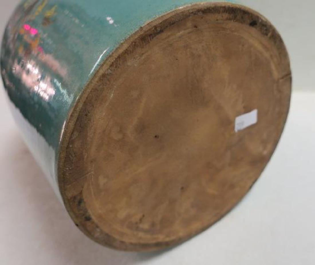 Vintage RED WING Turquoise Stoneware Cookie Jar/Crock: - 3