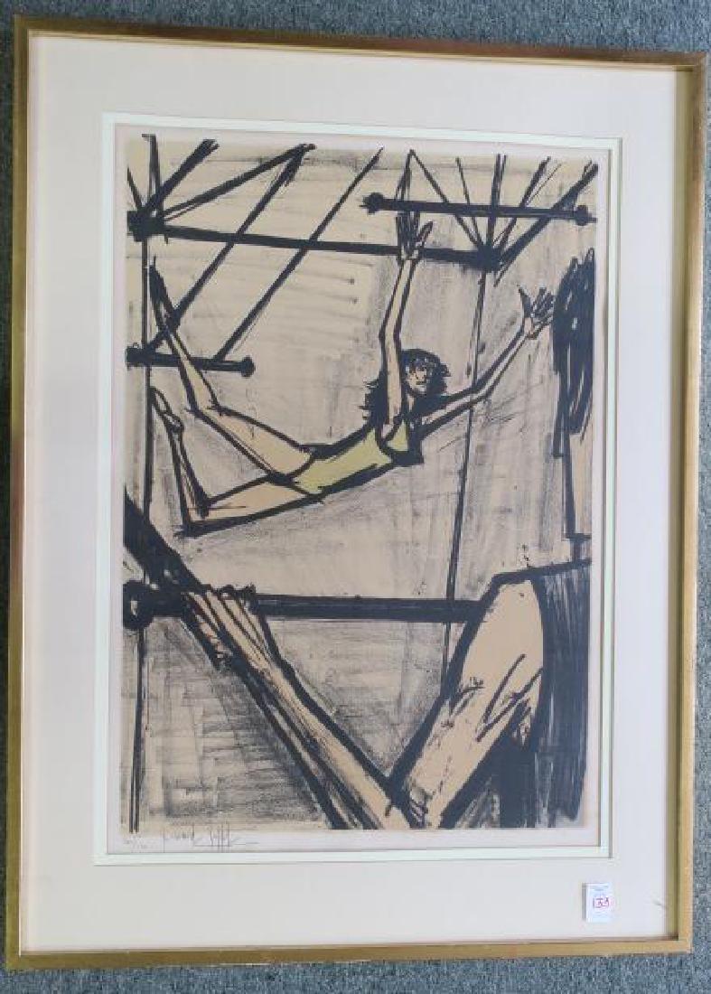 BERNARD BUFFET, THE TRAPEZE ARTISTS, S/N Lithograph:
