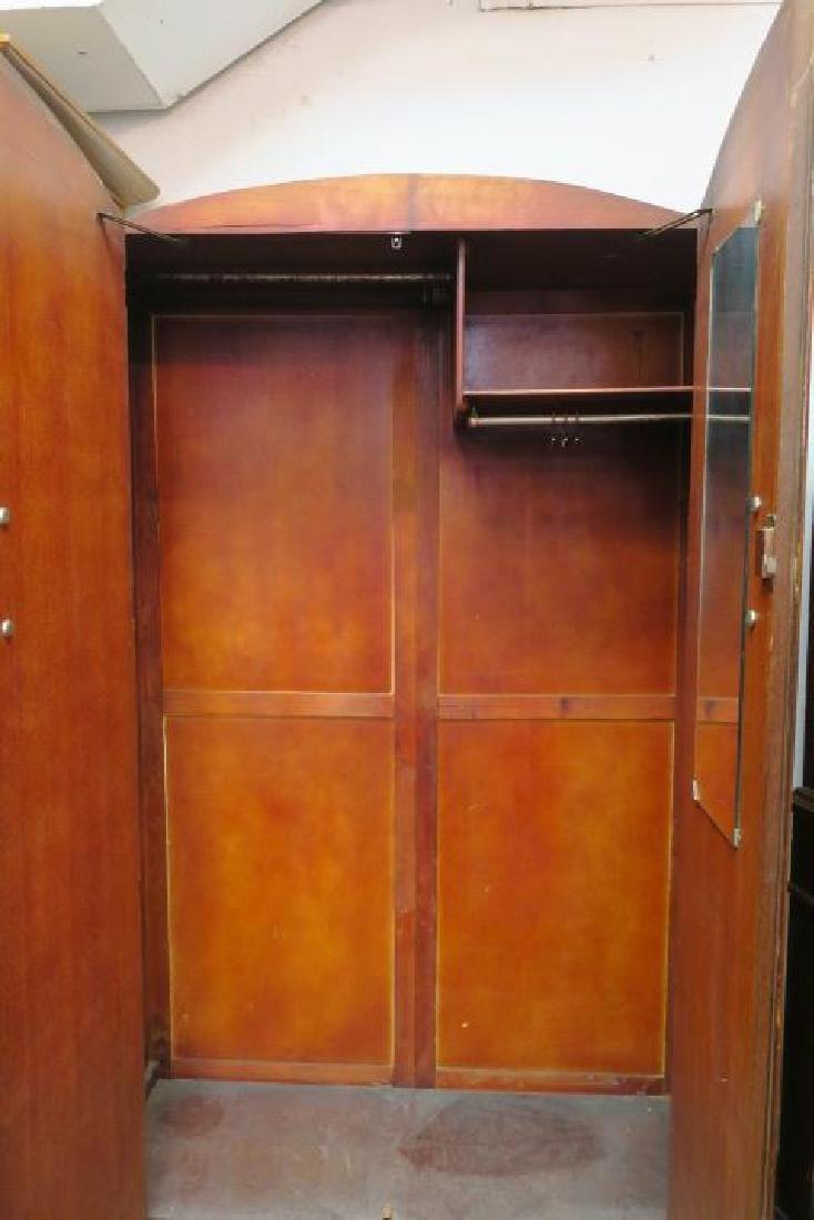 English Deco Period Double Door Armoire: - 2