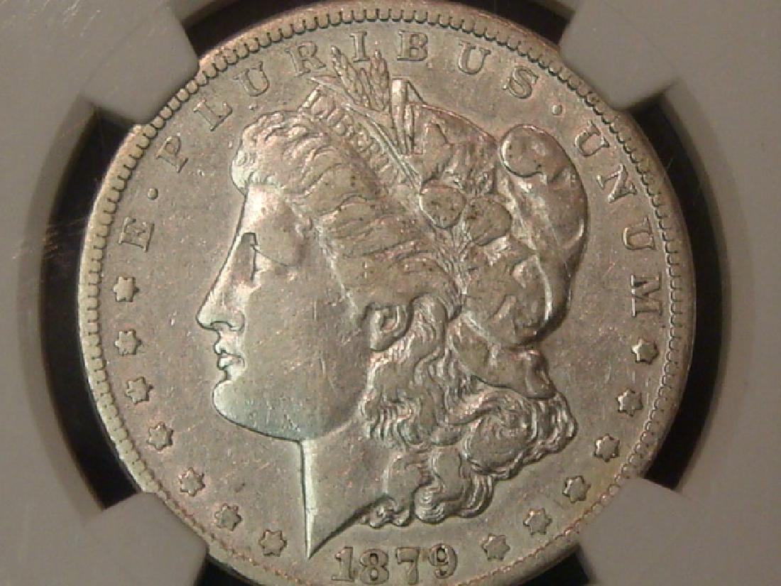 1879 CC MORGAN SILVER DOLLAR, VF Details NGC Graded: - 2