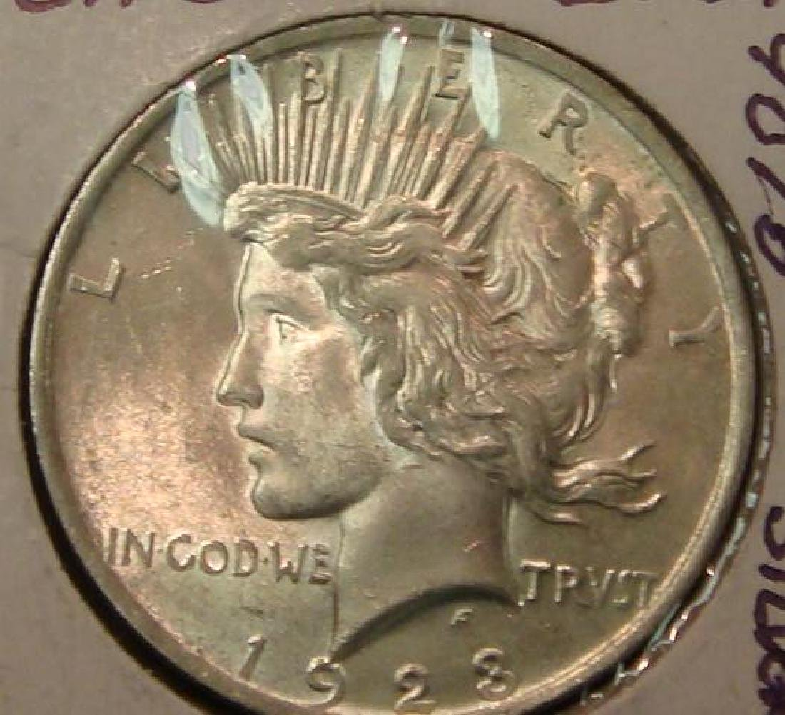 1923 90% Silver PEACE DOLLAR, MS 63 Condition:
