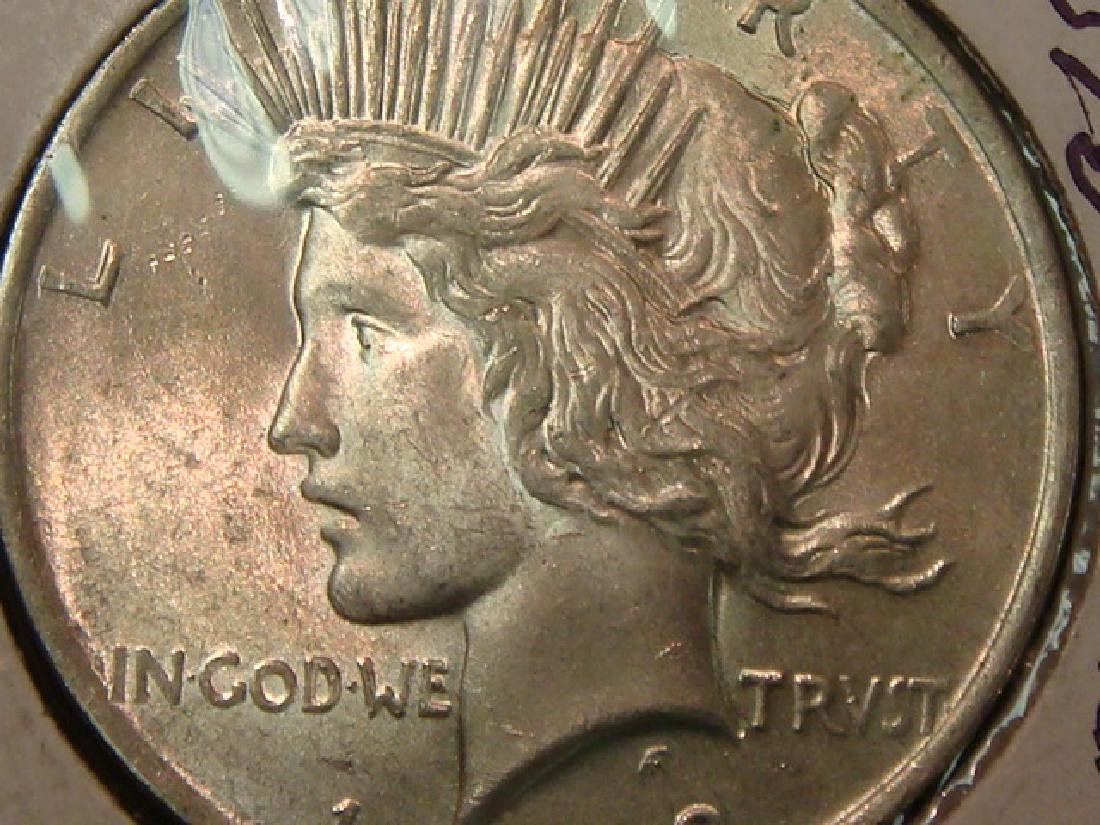 1923 90% Silver PEACE DOLLAR, MS 63 Condition: - 3