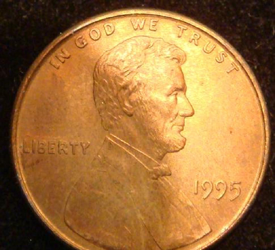 1995 DOUBLE DIE LINCOLN CENT: - 2