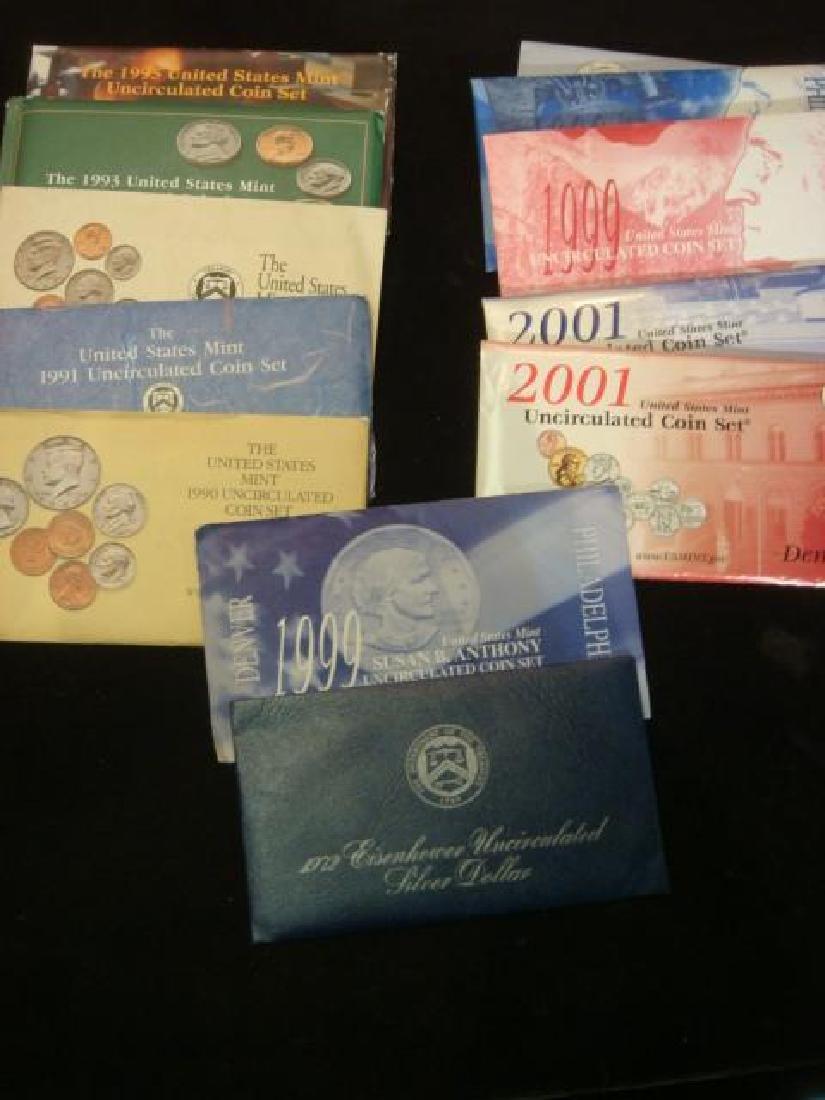 Twelve US MINT UNCIRCULATED COIN SETS: