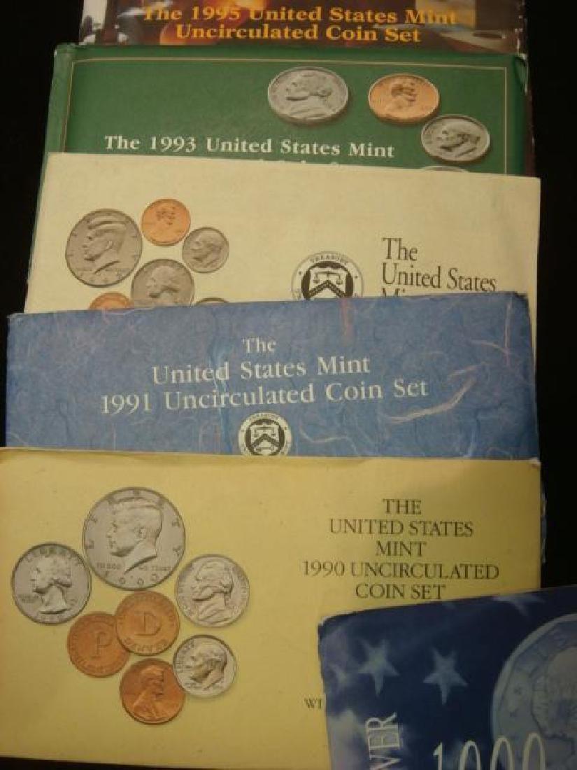 Twelve US MINT UNCIRCULATED COIN SETS: - 3