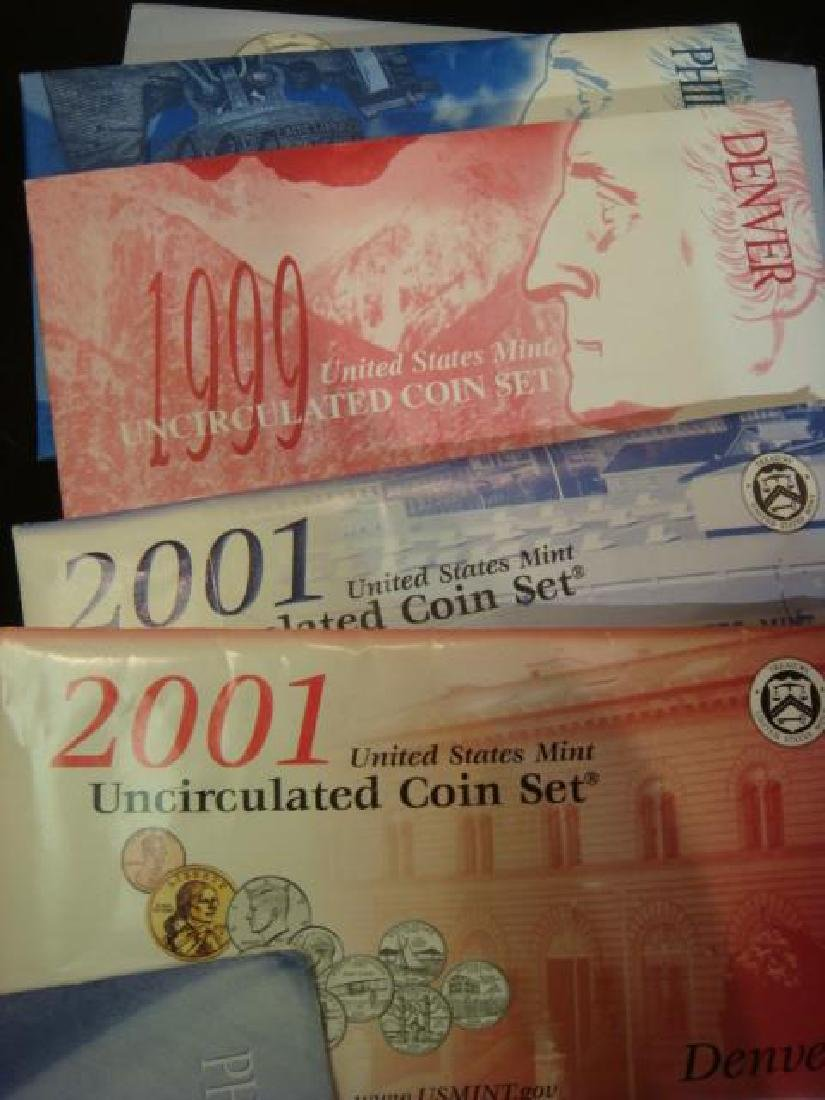 Twelve US MINT UNCIRCULATED COIN SETS: - 4