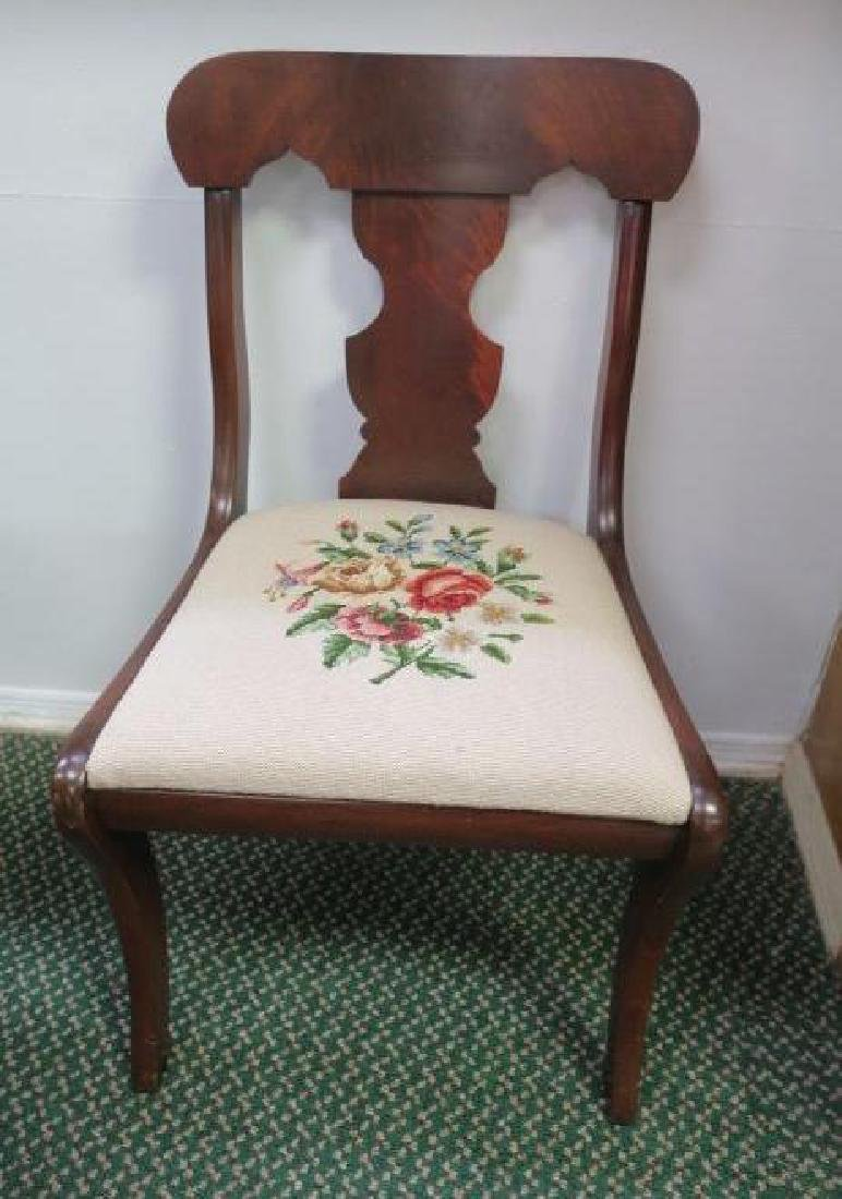 Set of Four Mahogany Side Chairs: - 2