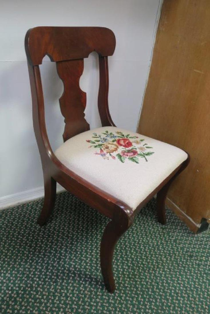 Set of Four Mahogany Side Chairs: - 4