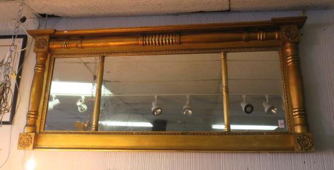American Federal Style Triptych Over mantle Mirror: