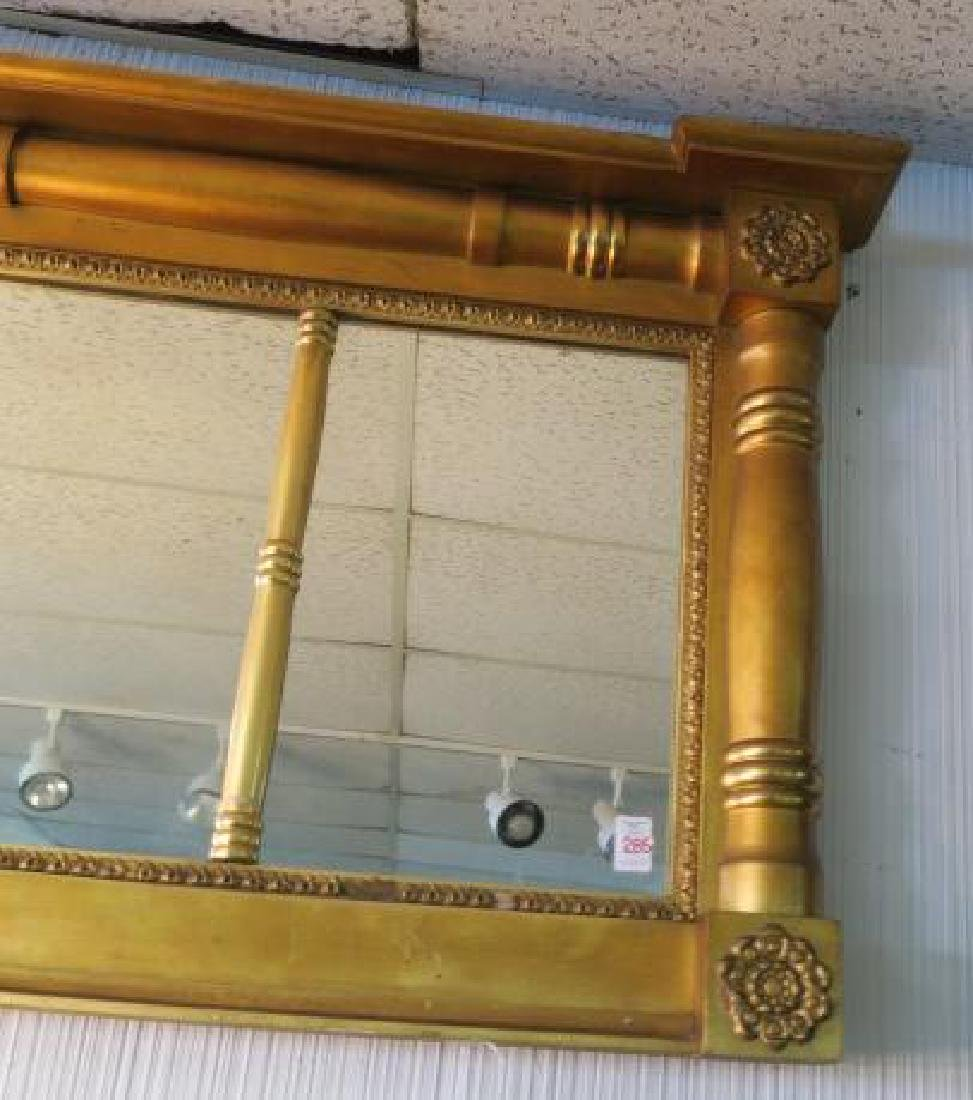 American Federal Style Triptych Over mantle Mirror: - 2