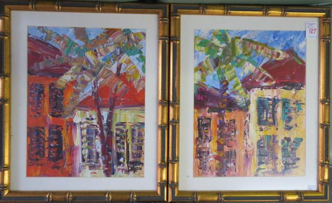 Two Acrylic Scenic Paintings Signed STEVE WARD:
