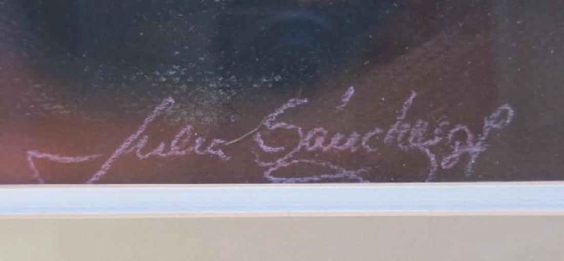 Seated Female Pastel Signed JULIA SANCHEZ: - 3