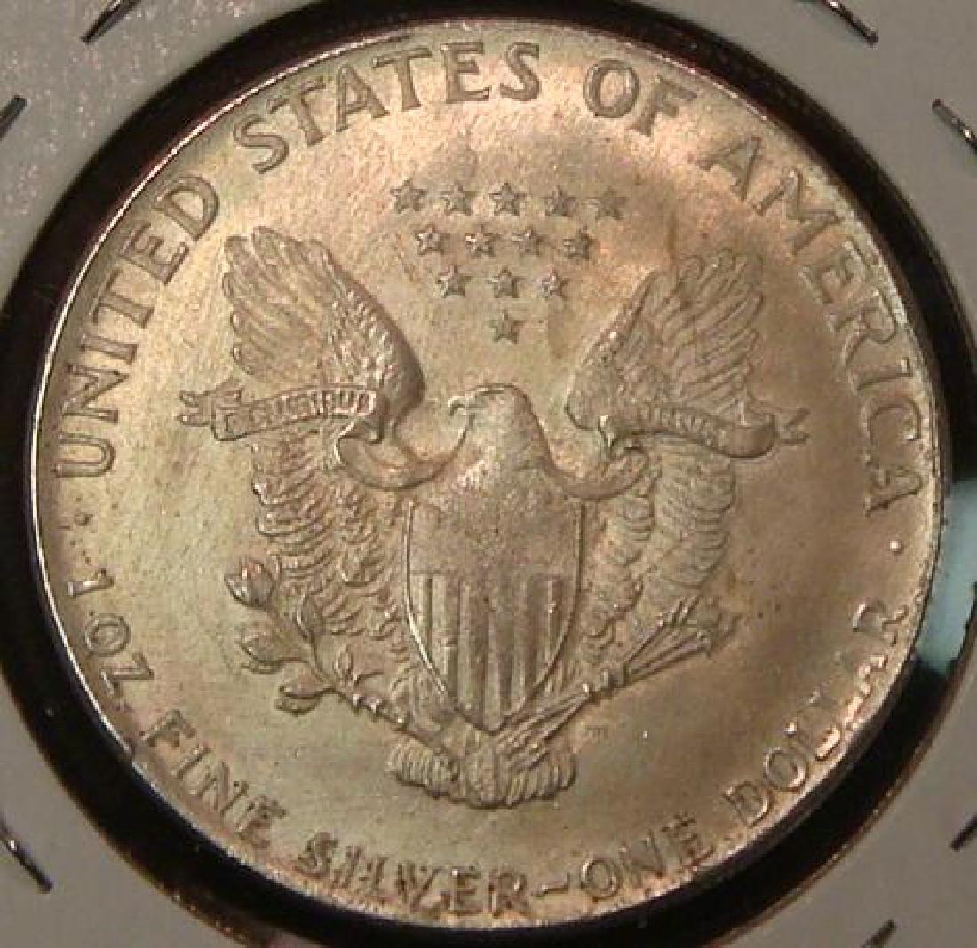 FAKE Silver-plated Dollar or 1oz Bullion Coin: - 2