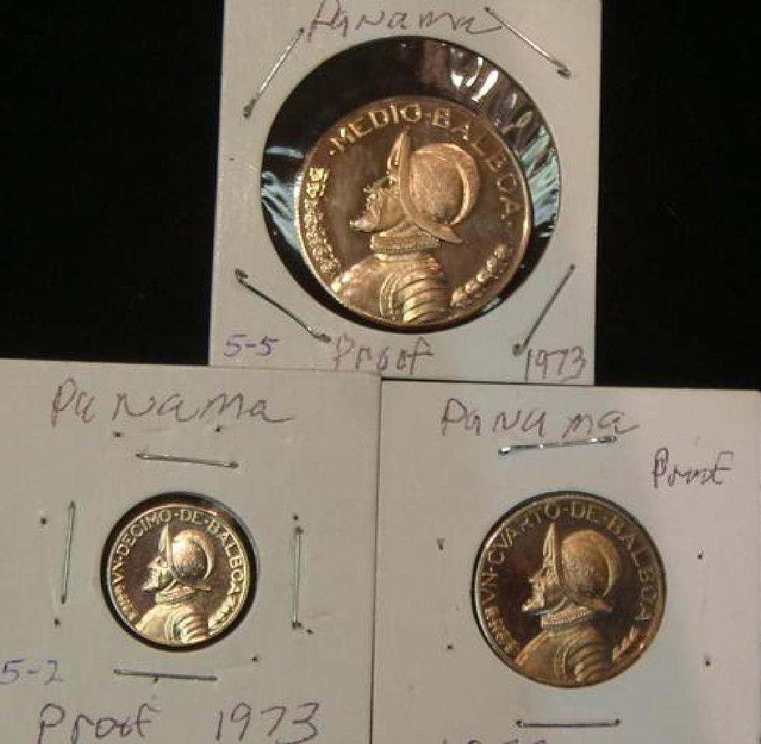 Three PROOF Quality BALBOA Coins 1/2, 1/4 and Dime: