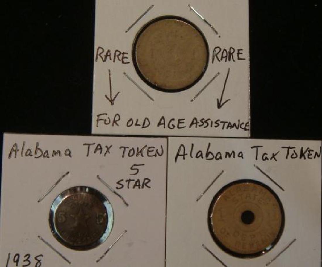 Three ALABAMA and OKLAHOMA Tax Tokens: