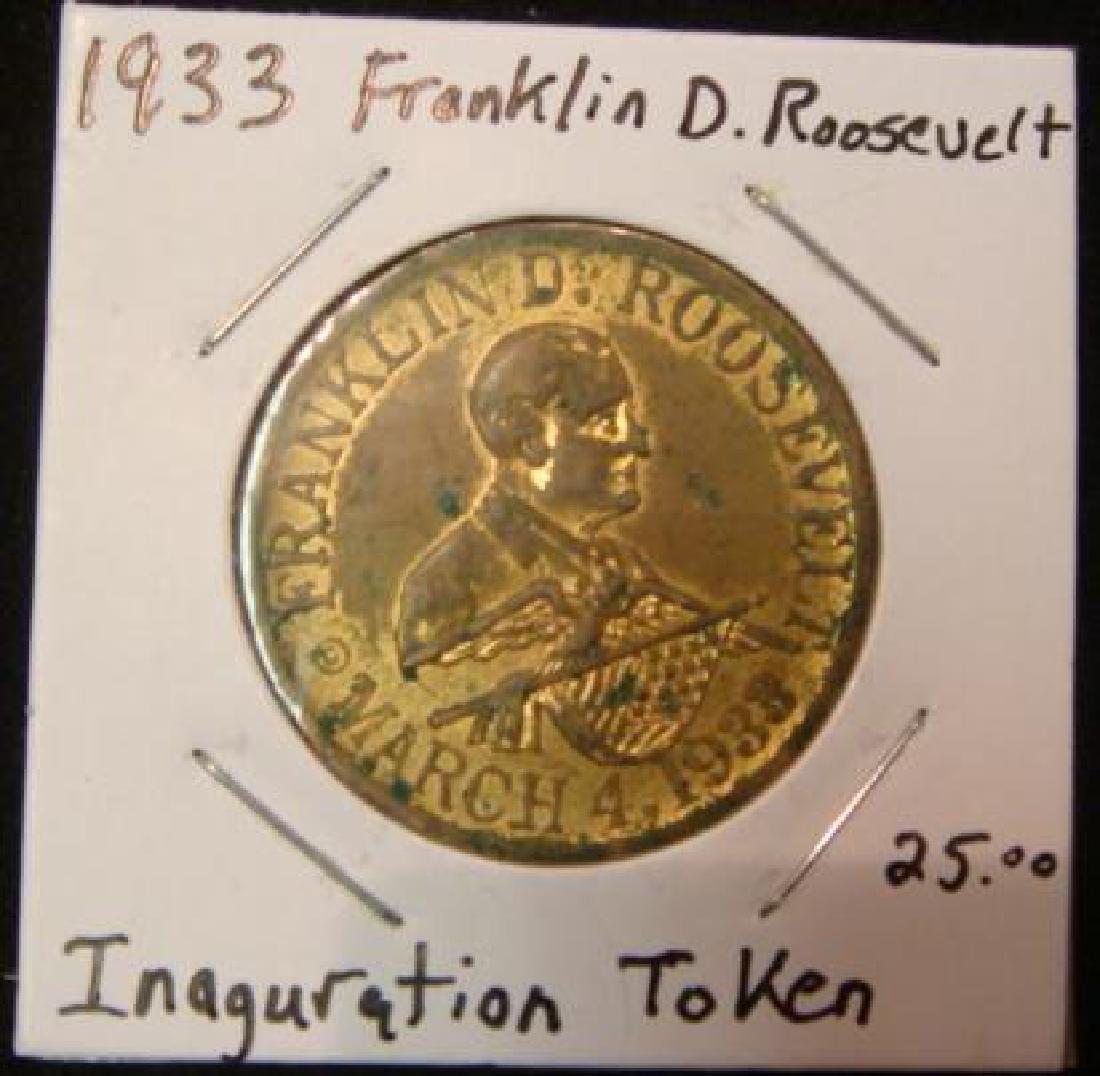 1933 FDR Inauguration Token Jewish Inauguration Party: - 3
