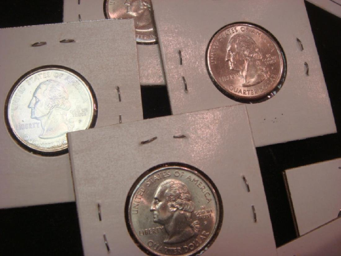 """30 """"UNCIRCULATED"""" 50 State Quarters: - 2"""