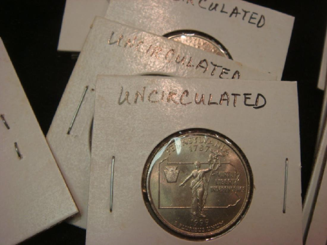 """30 """"UNCIRCULATED"""" 50 State Quarters: - 4"""
