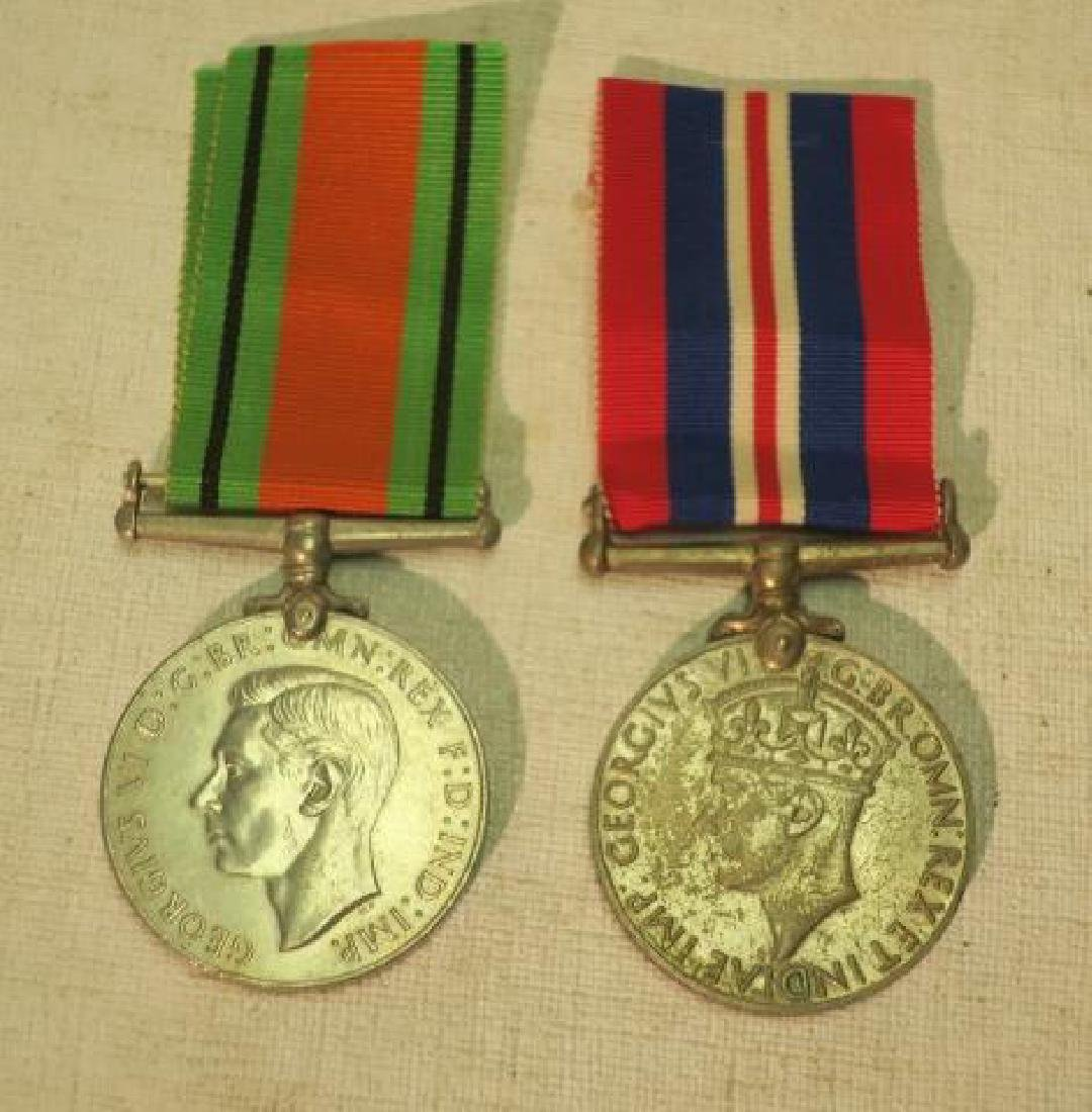 TWO BRITISH WORLD WAR II MEDALS; DEFENSE & WAR: