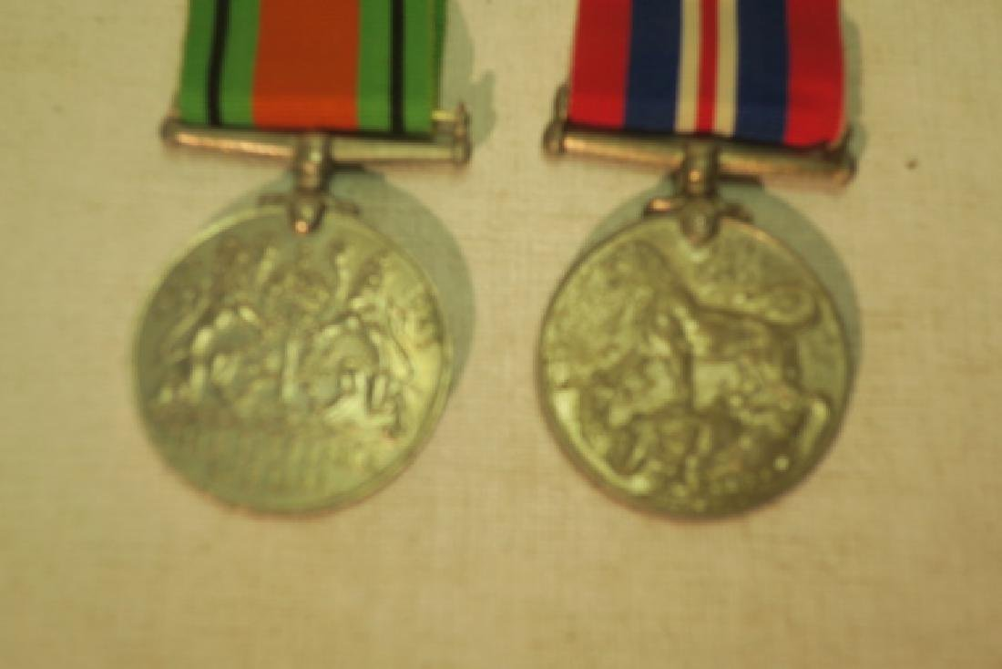 TWO BRITISH WORLD WAR II MEDALS; DEFENSE & WAR: - 2