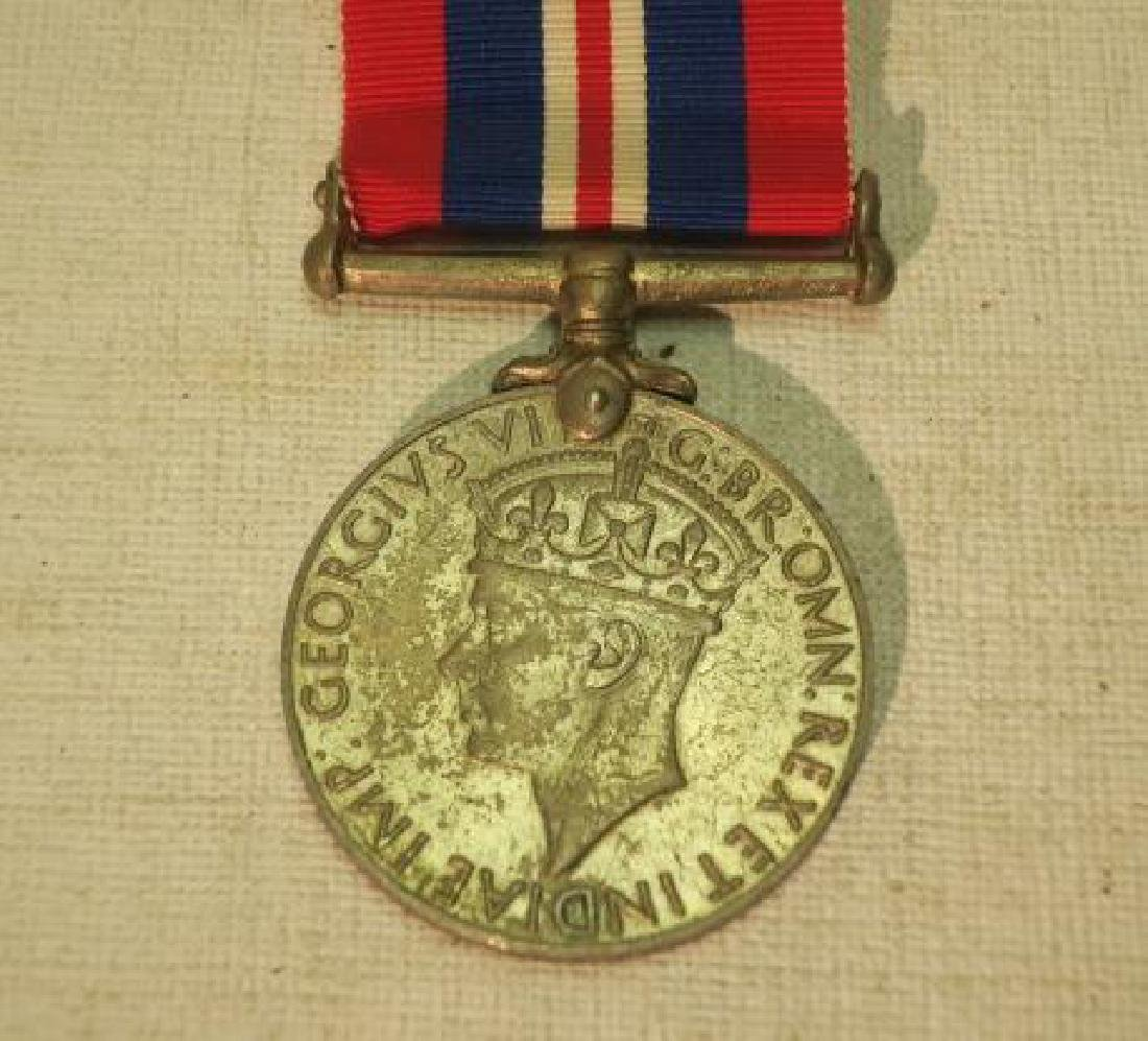 TWO BRITISH WORLD WAR II MEDALS; DEFENSE & WAR: - 3