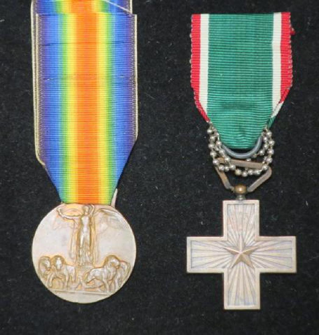 Two Italian World War One Medals; Heroism & Victory: