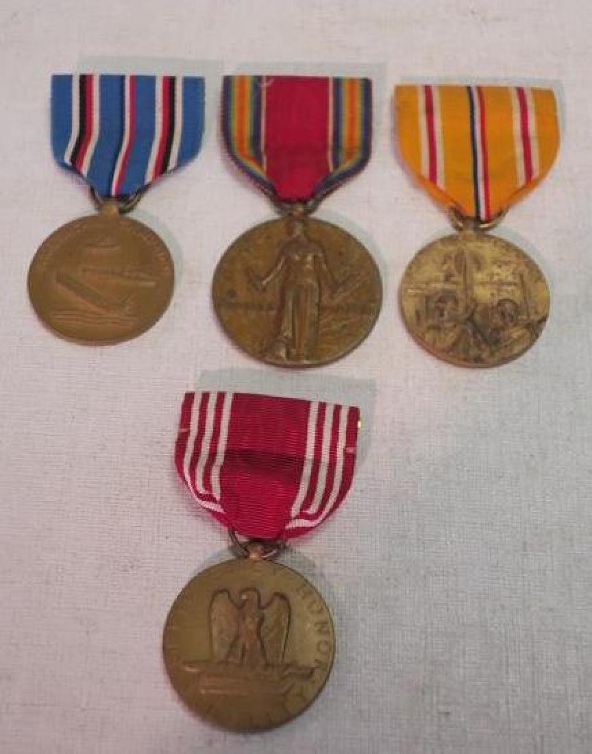 Four Medals, US World War II Set: