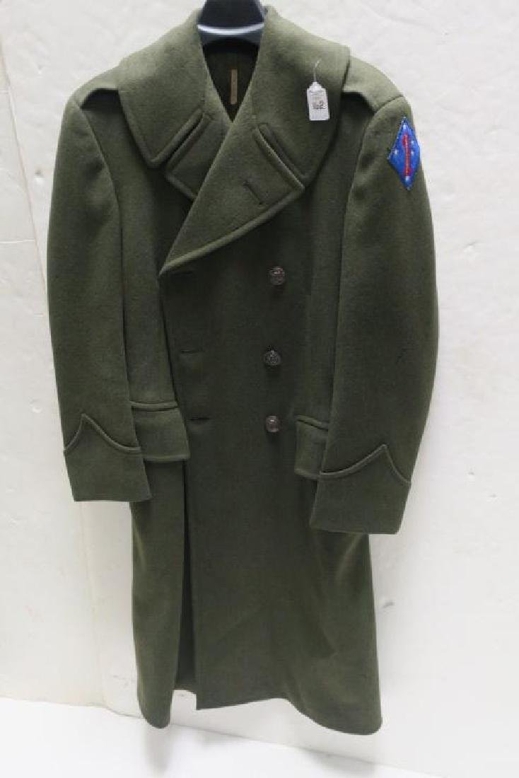 """1st Marine Div., """"OLD BREED"""" Over Coat, Size F 37 1/2:"""