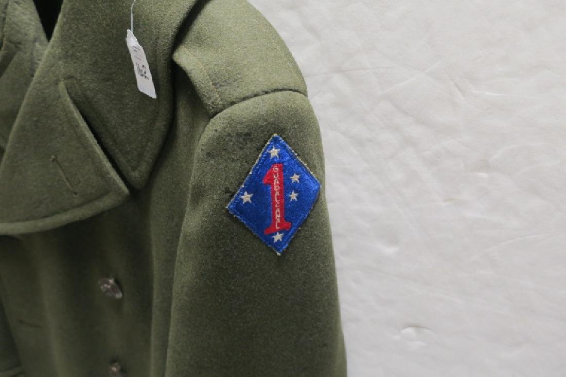 """1st Marine Div., """"OLD BREED"""" Over Coat, Size F 37 1/2: - 2"""