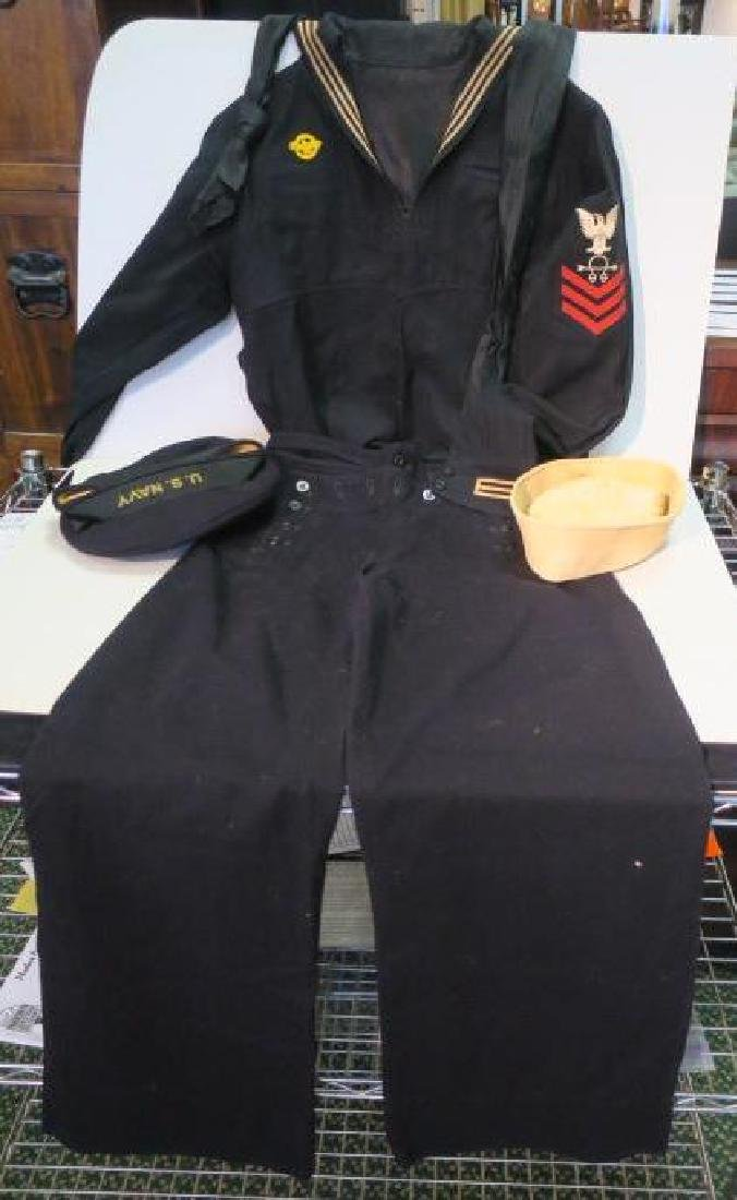 "Complete US Navy Dress Blue ""Cracker Jack"" Uniform:"