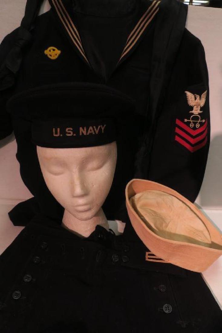 "Complete US Navy Dress Blue ""Cracker Jack"" Uniform: - 3"